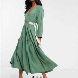 ASOS design texture wrap midi/maxi dress